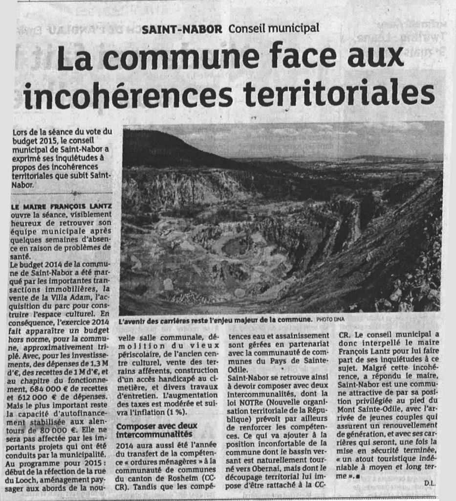 La Commune face aux incohérences territoriales