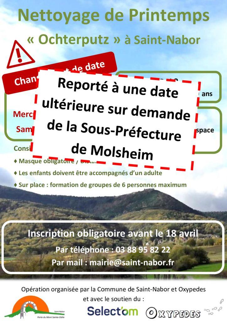 thumbnail of Nettoyage de Printemps flyer – Annulé
