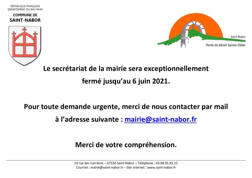 thumbnail of Fermeture mairie